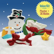 Holiday Spirit Kids Craft Kit: DIY Plaster Ornaments