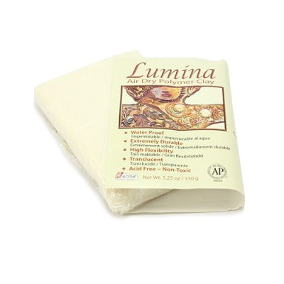 Lumina Air Dry Polymer Clay, Translucent, 5.25 oz (150 g)