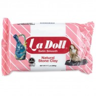 La Doll® Satin Smooth Natural Stone Clay, White, 17.5 oz (500 g)