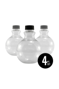 Round Sand Art Bottles, Set of 4