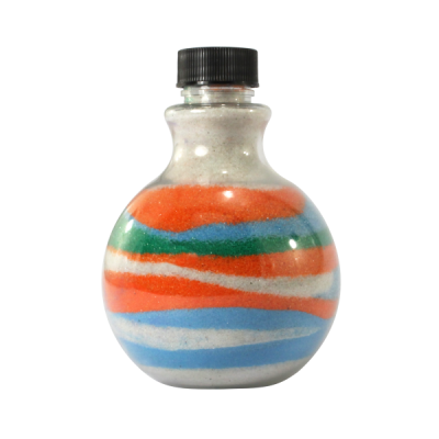 Sandtastik® Round Sand Art Bottles, Set of 100