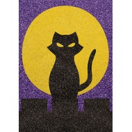 Sandtastik® Peel 'N Stick Sand Art Board #22 - The Cat and the Moon