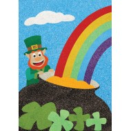 Sandtastik® Peel 'N Stick Sand Art Board #25 - The Rainbow and the Leprechaun