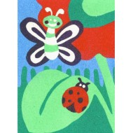Sandtastik® Peel 'N Stick Sand Art Board #3 - Butterfly & Ladybug