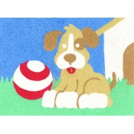Sandtastik® Peel 'N Stick Sand Art Board #4 - Fetch Puppy