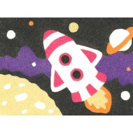 Sandtastik® Peel 'N Stick Sand Art Board #15 - Rocket Over The Moon