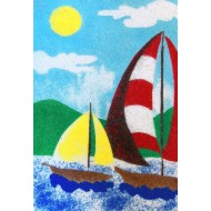 Sandtastik® Peel 'N Stick Sand Art Board #16 - Sailing In The Wind