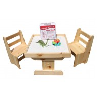 Sandtastik® Sand Table & Chairs Set + BONUS Play Sand