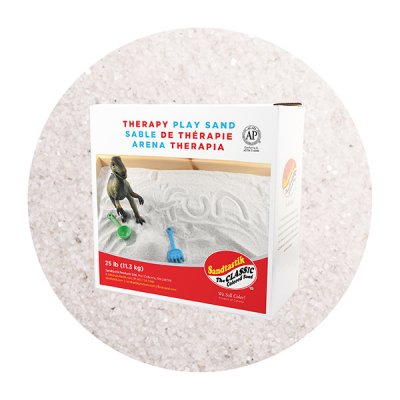 Sandtastik® Therapy Play Sand, Natural White, 25 lb (11.3 kg) Box