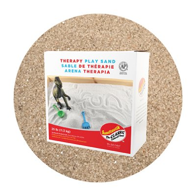 Sandtastik® Therapy Play Sand, Beach, 25 lb (11.3 kg)